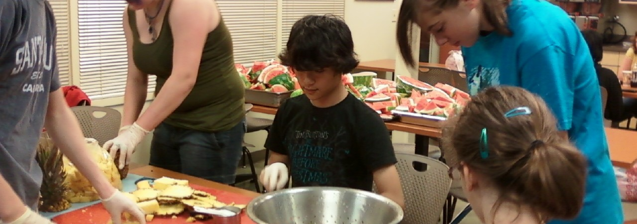 Helping at a Minneapolis soup kitchen in 2011.