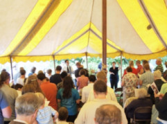 Worship Service under the tent