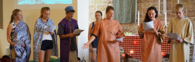 Youth Team Leads Skit at VBS