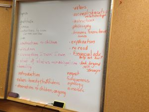 Notes from the 9-25-14  Spiritual Legacy workshop