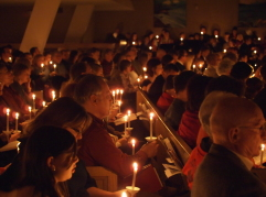 Candlelight service Christmas eve
