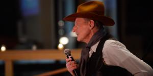 Scott Mead as the cowboy poet