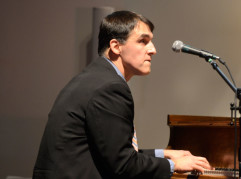 Jim accompanying on the piano