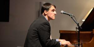 Jim accompanying on the piano